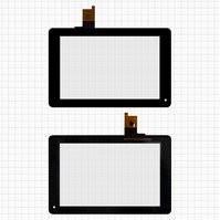 """Сенсорный экран для планшетов Huawei MediaPad S7-301, MediaPad S7-301C, MediaPad S7-301U, 7"""", 9 pin, черный, (185*119 мм), #TPC70B53 V0.2/FPC-S72060-1"""