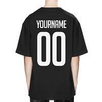 Именная футболка черная