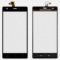 Сенсорный экран для мобильного телефона Nomi i506 Shine, original, черный, #DJN-48-12050-1356A-00