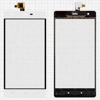Сенсорный экран для мобильного телефона Nomi i506 Shine, original, белый, #DJN-48-12050-1356A-00