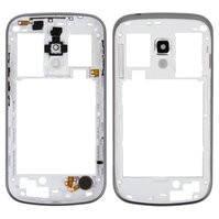 Средняя часть корпуса для мобильных телефонов Samsung S7562, S7582 Galaxy Trend Plus Duos, белая