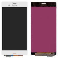 Дисплей для мобильных телефонов Sony D6603 Xperia Z3, D6633 Xperia Z3 DS, D6643 Xperia Z3, D6653 Xperia Z3, белый, с сенсорным экраном, high-copy