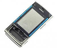 Корпус ААА Nokia X3/ X3-00 (синий)+латинская клавиатура