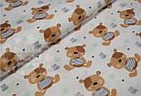 """Отрез ткани №512а  с коричневыми мишками """"Gute Teddy"""", фото 2"""