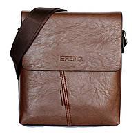Чоловіча модна сумка коричнева Е-54162