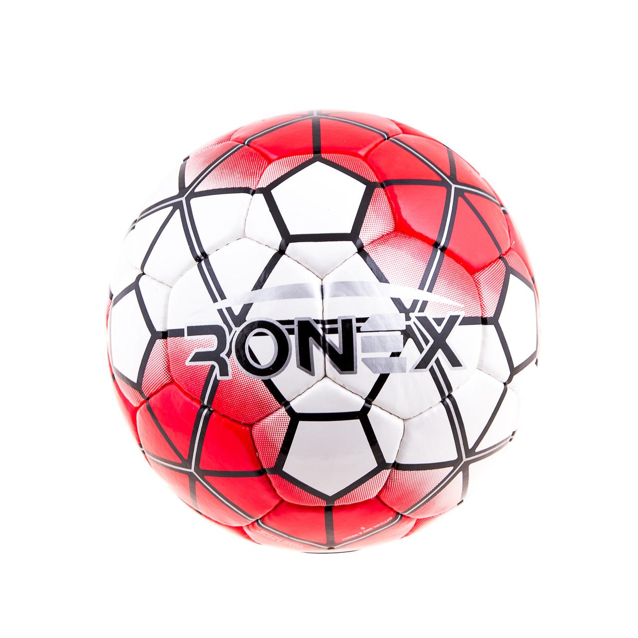 М'яч футбольний DXN Ronex(NK), Red/Silver