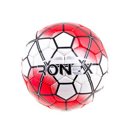 М'яч футбольний DXN Ronex(NK), Red/Silver, фото 2