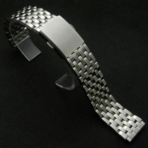 Браслет для часов из нержавеющей стали, штампованный, глянц/мат. 20 мм