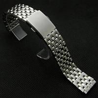 Браслет для часов из нержавеющей стали, штампованный, глянц/мат. 20 мм, фото 1