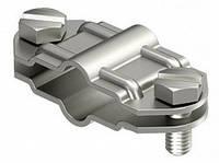 Разделительный зажим для круглых проводников d 8-10 мм и плоских проводников FL 30 мм из нержавеющей стали OBO