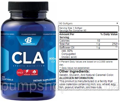 Для снижения веса Foundation Series CLA -90 капсул, фото 2