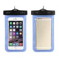 Водонепроницаемый чехол для телефона универсальный Waterproof синий