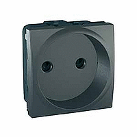 SСHNEIDER ELECTRIC UNICA Розетка без заземления с защитными шторками  под рамку Графит