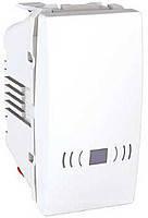 """SСHNEIDER ELECTRIC UNICA Выключатель кнопочный одноклавишный с символом """"Свет"""" 1 модуль 10А Белый"""