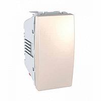 SСHNEIDER ELECTRIC UNICA Выключатель кнопочный одноклавишный 1 модуль 10А Слоновая кость