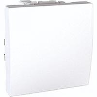 SСHNEIDER ELECTRIC UNICA Выключатель одноклавишный кнопочный 2 модуля 10А Белый