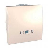 """SСHNEIDER ELECTRIC UNICA Выключатель кнопочный одноклавишный с символом """"звонок"""" 2 модуля 10А Слоновая кость"""