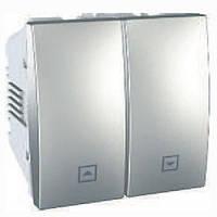 SСHNEIDER ELECTRIC UNICA Выключатель для жалюзи нажимной 2 модуля 10А Алюминий