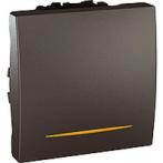 SСHNEIDER ELECTRIC UNICA Выключатель проходной одноклавишный с контрольной подсветкой 2 модуля 16А Графит