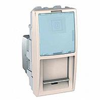 SСHNEIDER ELECTRIC UNICA Розетка компьютерная с полем для надписи неэкр.UTP кат. 5е 1 модуль Слоновая кость