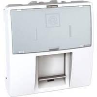 SСHNEIDER ELECTRIC UNICA Розетка компьютерная с полем для надписи неэкр.UTP кат. 5е 2 модуля Белый