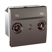 SСHNEIDER ELECTRIC UNICA Розетка TV/R одиночная 2 модуля Графит