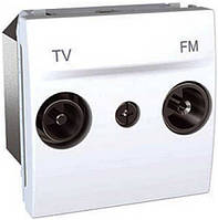 SСHNEIDER ELECTRIC UNICA Розетка TV/R одиночная 2 модуля Белый