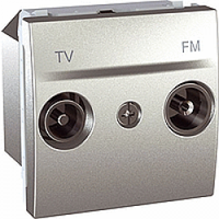 SСHNEIDER ELECTRIC UNICA Розетка TV/R конечная 2 модуля Алюминий