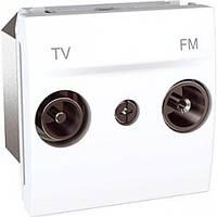 SСHNEIDER ELECTRIC UNICA Розетка TV/R конечная 2 модуля Белый
