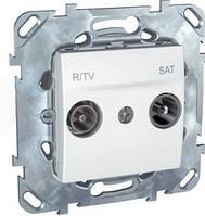 SСHNEIDER ELECTRIC UNICA Розетка TV/R/SAT одиночная 2 модуля Слоновая кость