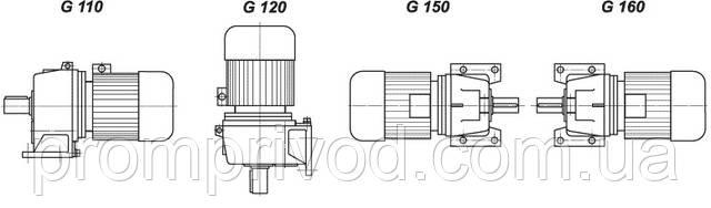 Варианты крепления цилиндрического мотор редуктора МЦ2С