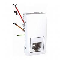 SСHNEIDER ELECTRIC UNICA Розетка телефонная RJ12 6 контактов 1 модуль Белая