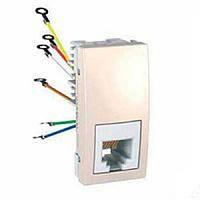 SСHNEIDER ELECTRIC UNICA Розетка телефонная RJ12 6 контактов 1 модуль Слоновая кость