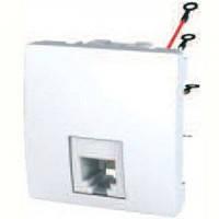 SСHNEIDER ELECTRIC UNICA Розетка телефонная RJ12 6 контактов 2 модуля Белый