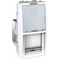 SСHNEIDER ELECTRIC UNICA Розетка телефонная с полем для надписи RJ12 6 контактов 2 модуля Белая
