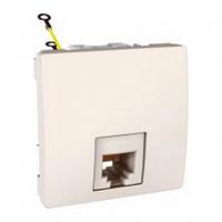 SСHNEIDER ELECTRIC UNICA Розетка телефонная RJ12 6 контактов 2 модуля Слоновая кость