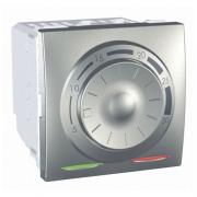 SСHNEIDER ELECTRIC UNICA Термостат поворотный электронный для кондиционирования и отопления Алюминий