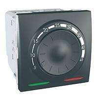 SСHNEIDER ELECTRIC UNICA Термостат поворотный электронный для кондиционирования и отопления Графит