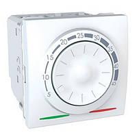 SСHNEIDER ELECTRIC UNICA Термостат поворотный электронный для кондиционирования и отопления Белый