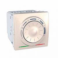 SСHNEIDER ELECTRIC UNICA Термостат поворотный электронный для кондиционирования и отопления Слоновая кость