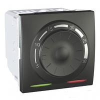 SСHNEIDER ELECTRIC UNICA Терморегулятор для теплого пола с датчиком в комплекте 10А Графит