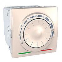 SСHNEIDER ELECTRIC UNICA Терморегулятор для теплого пола с датчиком в комплекте 10А Слоновая кость