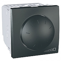 SСHNEIDER ELECTRIC UNICA Светорегулятор поворотно-нажимной для флуоресцентных ламп 1-10 В 400ВА Графит