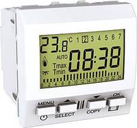SСHNEIDER ELECTRIC UNICA Термостат цифровой программируемый для кондиционера или отопления 24 ч-7 д таймер Белый