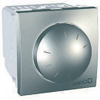 SСHNEIDER ELECTRIC UNICA Светорегулятор поворотно-нажимной для флуоресцентных ламп 1-10 В 400ВА Алюминий
