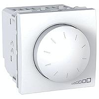 SСHNEIDER ELECTRIC UNICA Светорегулятор поворотно-нажимной с ферромагнитным трансформатором,выключатель проходной 400Вт Белый