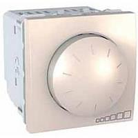 SСHNEIDER ELECTRIC UNICA Светорегулятор поворотно-нажимной с ферромагнитным трансформатором,выключатель проходной 400Вт Слоновая кость