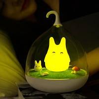 Детский LED светильник - ночник с 2 режимами яркости, аккмулятором и сенсорным управлением (YELLOW RABBIT)