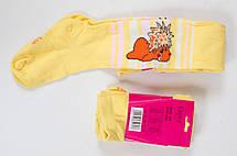 Якісні коттонові дитячі колготи з об'ємним комп'ютерним малюнком для дівчаток, р. 86-140., фото 2
