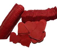 Конфетти сердца красные бумажные 250 г